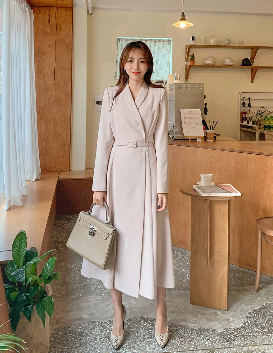 달리호텔 / Hera Shawl Collar Jacket Dress BEIGE