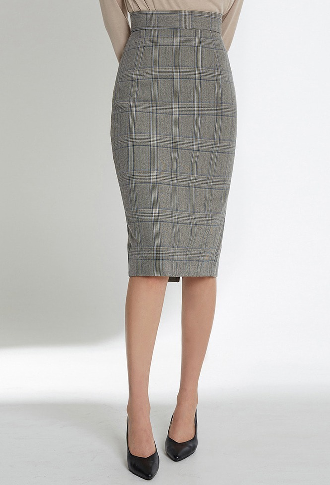 달리호텔 / Modern Checked Midi Skirt_H65986