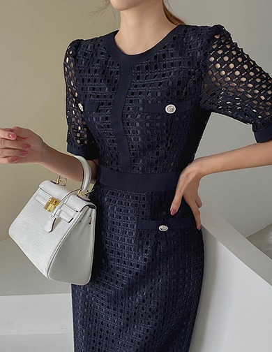 달리호텔 / Abel Square Lace Dress_H65608