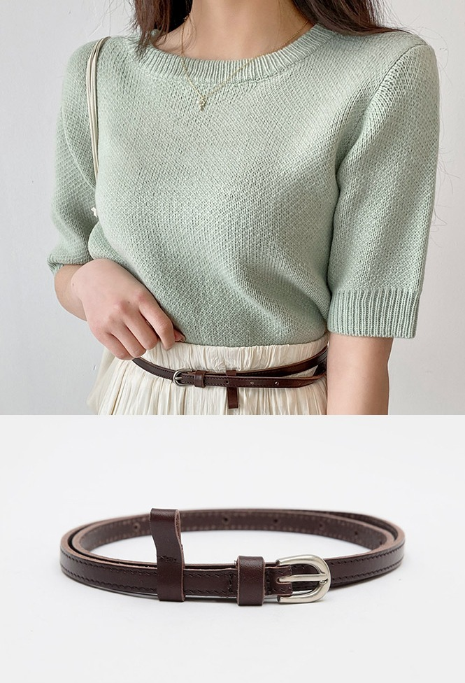 달리호텔 / Skinny Real Leather Belt_H62297