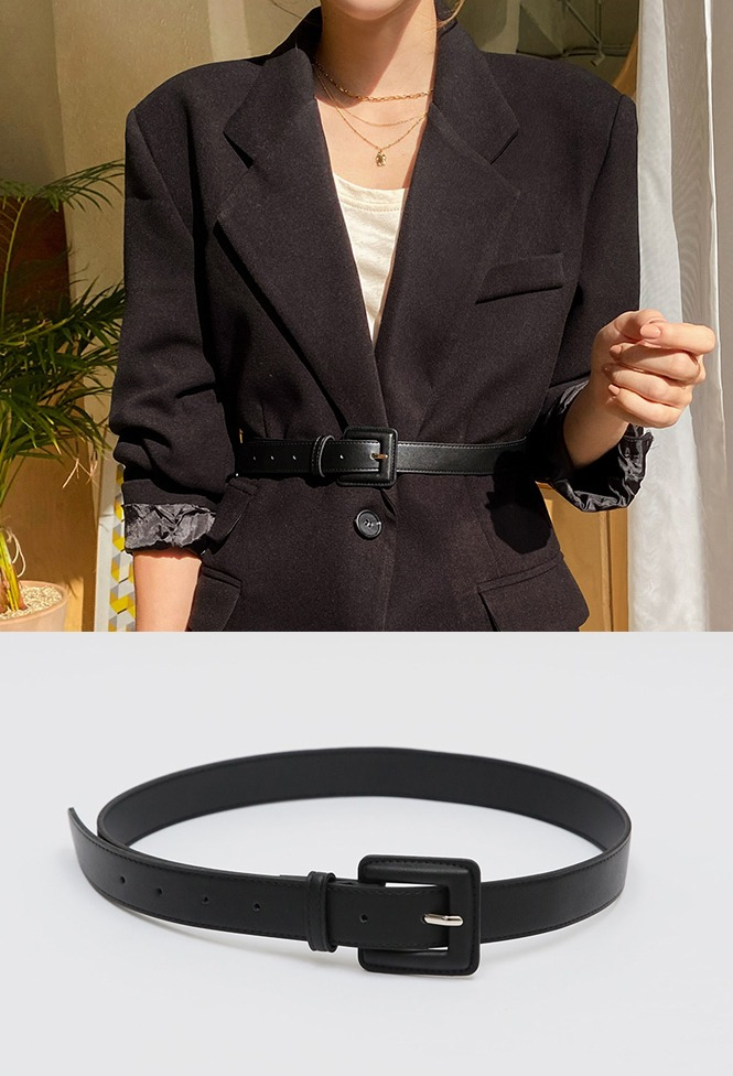 달리호텔 / Bold Square Buckle Belt_H62660